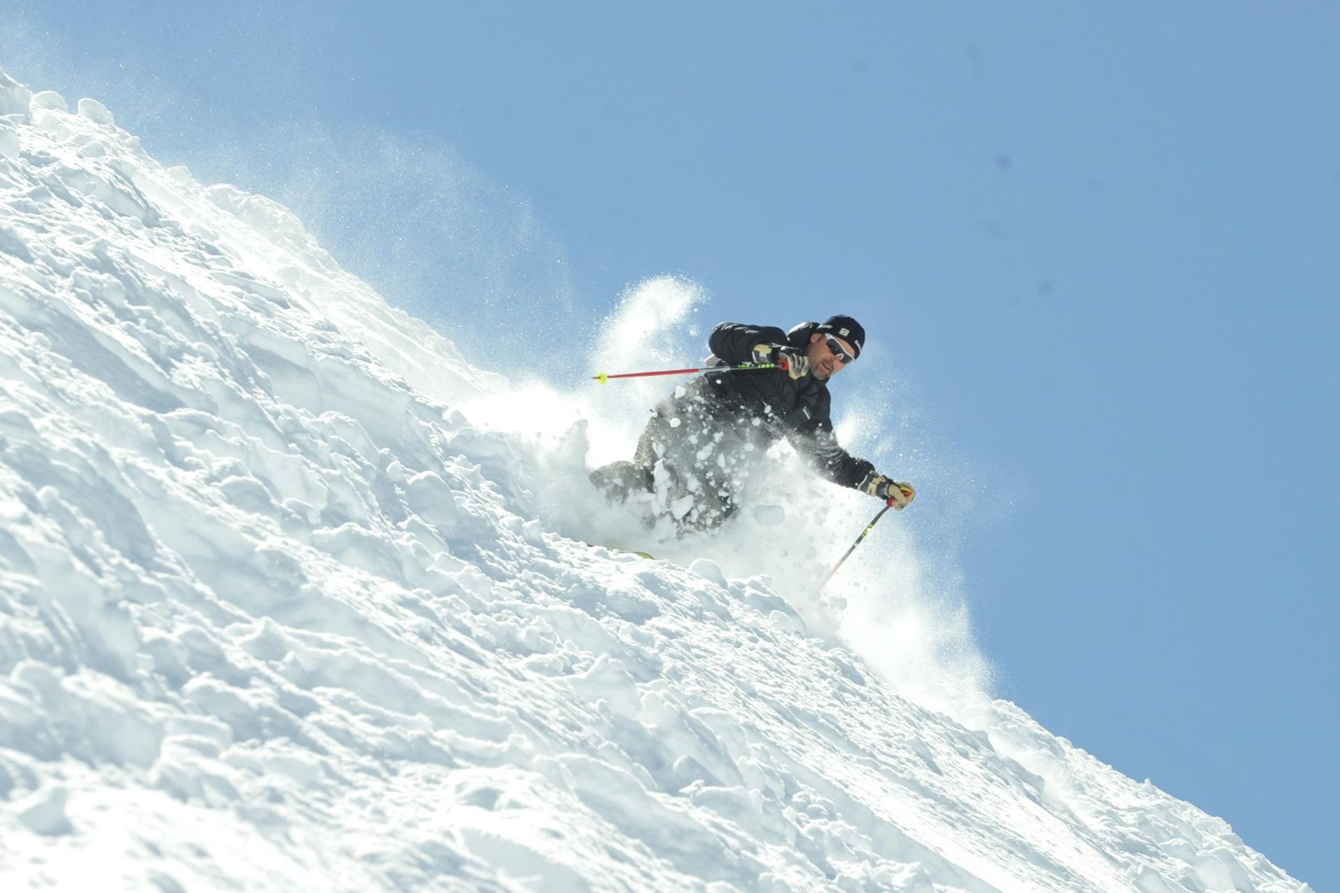freeride on the snow